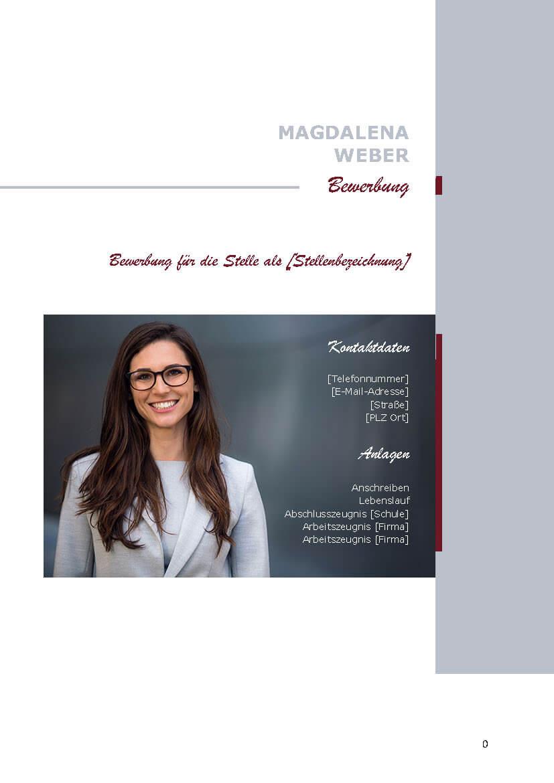 Deckblatt Bewerbungsvorlage Magdalena