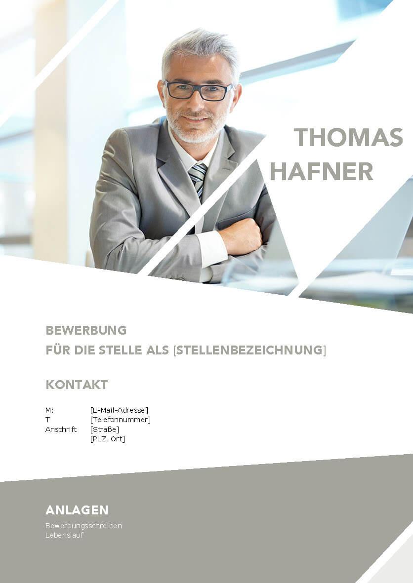 Deckblatt Bewerbungsvorlage Thomas
