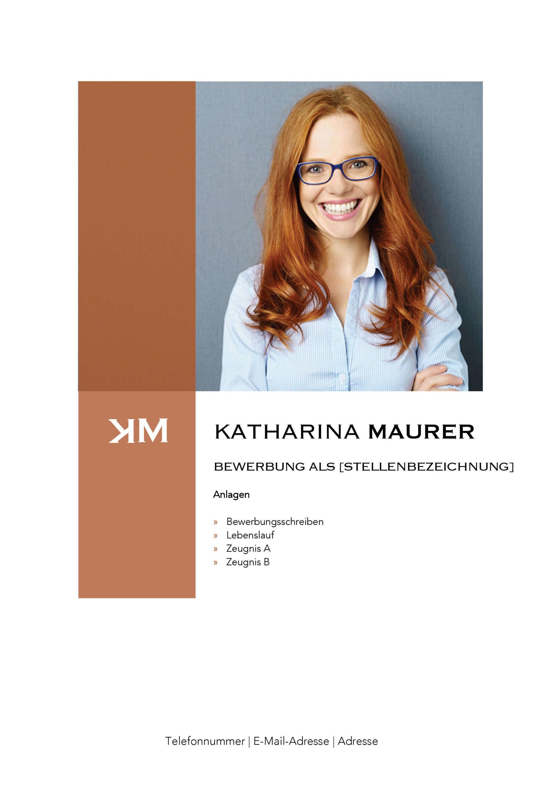 Deckblatt Bewerbungsvorlage Katharina