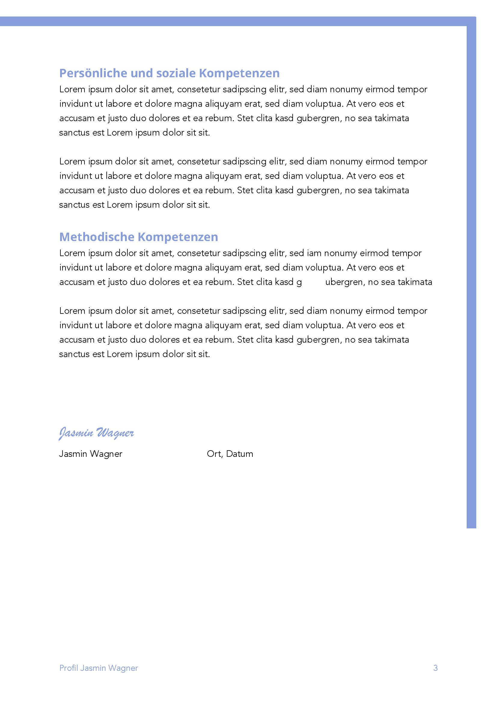 Lebenslauf Bewerbungsvorlage Jasmin Seite 3