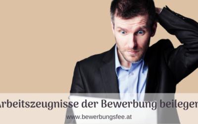 Arbeitszeugnis beilegen in Österreich und Deutschland